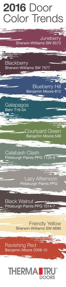 Front door I love this infographic from ThermaTru Doors. So many fun colors that would look amazing on an exterior door. source Related Stories Happy {exterior front door paint that doesn't fade} Painted Front Door Colors, Front Doors, Front Porch, House Front, Blue Doors, Favorite Paint Colors, Take You Home, Exterior Paint Colors, Paint Colours