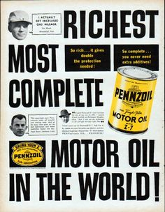1000 images about oil advertising on pinterest vintage for Best motor oil in the world