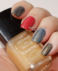 Chanel Beige D'Or 24 swatches over different colors - vintage