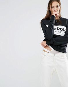 Reebok | Reebok Classics Panel Logo Oversized Sweatshirt In Black