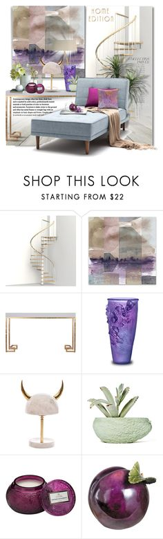 """""""The Lounge"""" by esch103 ❤ liked on Polyvore featuring interior, interiors, interior design, home, home decor, interior decorating, Worlds Away, Daum, Chen Chen & Kai Williams and By Terry"""
