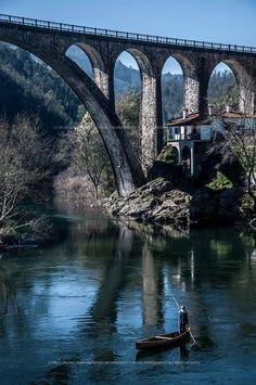 """Bridge """"Ponte do Poço de São Tiago"""", Sever do Vouga, #Portugal, By Armando C F Palhau"""
