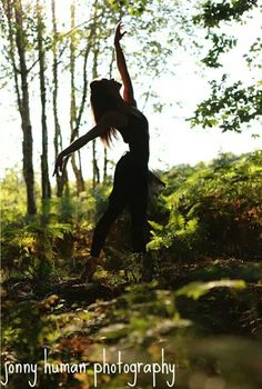 Ballerina In The Woods.