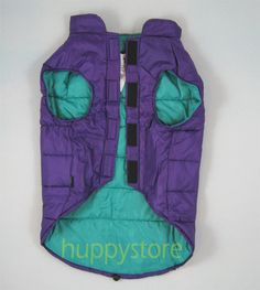 """LARGE SIZE PURPLE DOG COAT  Fashion comfy and warm pet wear. SIZE L for  Back Length 24""""-25"""" (61-63 cm)  Chest 35""""-36"""" (89-91 cm).Thailand is famous for apparel manufacturing including winter's pet wear such as dog coat, sweater, jacket. This collection of dog's winter clothes were professionally designed, using high quality material and workmanship, specially manufactured for exporting to temperate countries. $43.50 free shipping"""