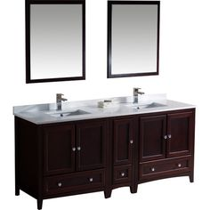 "Found it at Wayfair - Oxford 72"" Double Traditional Bathroom Vanity Set with Mirrors"