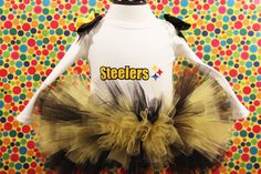 A personal favorite from my Etsy shop https://www.etsy.com/listing/463437092/pittsburgh-steelers-tutu-outfit