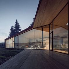 """Explore 5 rural retreats designed by Saunders Architecture for the Canadian wilderness. See more images and read the full story on dezeen.com/tag…"""