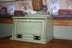 Bread Box Shabby Chic Wood Kitchen Cottage by RedBudPrimitives, $57.95