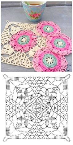 İşi Örgü Motif Şemaları -Tığ İşi Örgü Motif Şemaları - Crochet Christmas - It For You Shawl Pannello porta lavoro realizza Crochet granny avec diagramme ergahandmade: Crochet Stitches + Diagrams - Love Crochet Crochet Granny Square Rose S – Salvabrani Crochet Motifs, Crochet Blocks, Granny Square Crochet Pattern, Crochet Diagram, Crochet Stitches Patterns, Crochet Chart, Crochet Squares, Knitting Patterns, Granny Squares