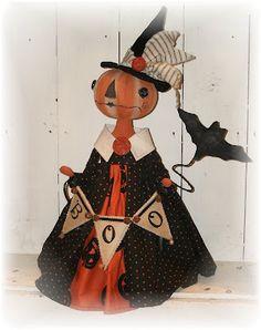 Modern Halloween, Halloween Doll, Holidays Halloween, Spooky Halloween, Vintage Halloween, Halloween Pumpkins, Halloween Crafts, Halloween Decorations, Halloween Ideas