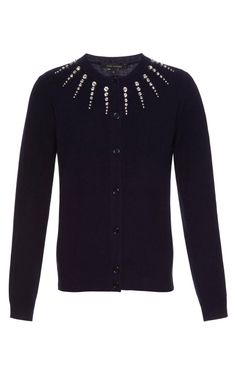 I've been searching high and low for one of these! Wool-Blend Crystal-Embellished Cardigan by Marc Jacobs