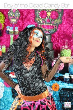 Day of the Dead Candy Buffet – Monster High Skelita Calaveras Party | http://soiree-eventdesign.com