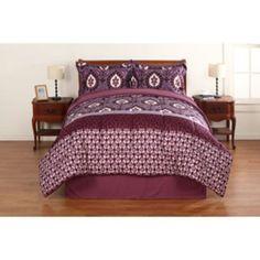 Walmart Bedroom Sets Custom Mainstays Bedinabag Bedding Set Purple Floral $30 Walmart Inspiration