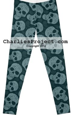 Paisley Skulls in blue teal. Just like Lularoe with the yoga waist band, buttery soft fabric, and limited prints but no searching! They are all here! And cheaper with pre-order! Charlie's Project adult and kid leggings.