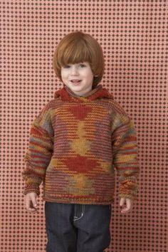 79731b2921ada Free Knitting Pattern ( Lion Brand)  Hooded Sweater Knitting Kits