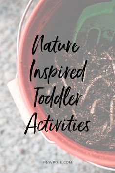 I want to make sure nature is a constant in my children's play and upbringing. Here are a few ways we are keeping our curious toddler engaged with nature. Nature Inspired Toddler Activities | PNW Pixie