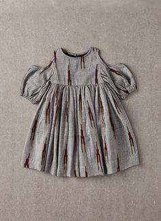 Nellystella Vanessa Dress in Grey & Brown Ikat – The Girls @ Los Altos