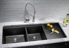 Blanco Silgranit Kitchen Sinks - kitchen sinks - houston - Westheimer Plumbing & Hardware-WONDER IF THEY MAKE THIS IN PORCELAIN OR STAINLESS?