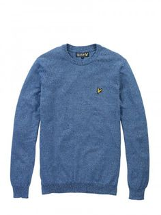 Lyle and Scott KN226CL Crew Neck Mouline Knit, from http://www.ApacheOnline.co.uk
