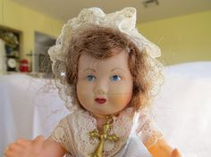 Vintage 1930's celluloid French doll regional by artandsalvage, $15.00