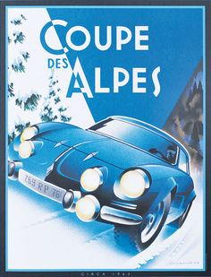 Coupe des Alpes rally poster