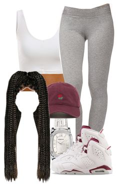 """""""First i then i """" by arii-bankss ❤ liked on Polyvore featuring Forever 21, Versace and NIKE"""
