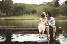 Quirky Engagement Photography  www.matthewmead.com.au    #engagement #prewedding #photography #couple #love #prenup #photoshoot #ideas #savethedate #photos #inlove #portrait #poses #romantic #photographer #happiness #moment #dress #style #preweddingphotography #classic #engagementphotography #lake