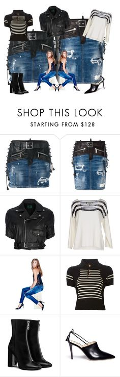 """""""Twins"""" by bren-johnson ❤ liked on Polyvore featuring Dsquared2, Jean-Paul Gaultier, GUESS and Alexander White"""