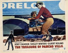 Rory Calhoun Gilbert Roland film The Treasure of Pancho Villa 35m-3642