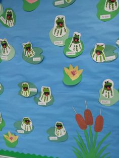 Frog handprints