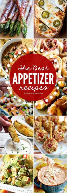 The Best Appetizer Recipes - These appetizer recipes are perfect for Christmas Parties, New Years, Birthday Parties, or any time that you are craving a yummy bite! These are so darn good! PIN IT NOW and make them later! dinner ideas for christmas Best Appetizer Recipes, Finger Food Appetizers, Yummy Appetizers, Appetizers For Party, Birthday Appetizers, Christmas Party Appetizers, Christmas Party Finger Foods, Avacado Appetizers, Prociutto Appetizers