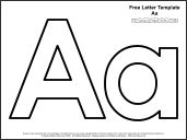 Click on the letter or letters of your choice for your free printable alphabet template or templates
