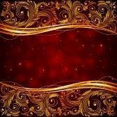 kerst : Rode kerst achtergrond met florale elementen illustratie Stock Illustratie