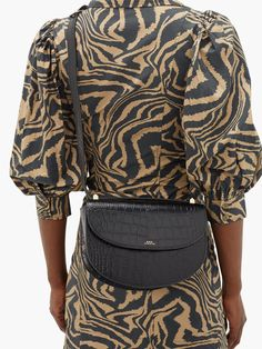 Genève crocodile-effect leather cross-body bag Shades Of Gold, Apc, Friends In Love, Leather Crossbody Bag, Crocodile, Cross Body, Dress Up, How To Wear, Clothes