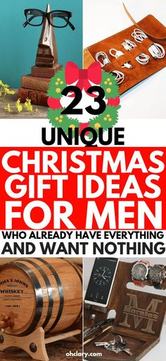 24 Unique Gift Ideas for Men Who Have Everything Guide) 23 Creative and Unique Christmas Gifts For Him. Perfect as inexpensive stocking stuffers! These meaningful and romantic presents are great Christmas Gifts For Husband, Funny Christmas Gifts, Unique Christmas Gifts, Husband Gifts, Christmas Birthday, Christmas Stocking, Meaningful Christmas Gifts, Diy Christmas Gifts For Boyfriend, Brother Gifts
