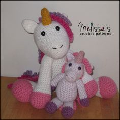 The Adorable Unicorn and Annabelle the Unicorn (free crochet pattern). Both crochet patterns are available on Ravelry.