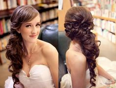 Wedding hair side pony, this is amazing!