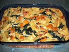Pumpkin, Pasta and Spinach Bake