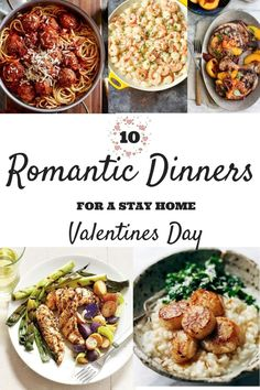 These romantic dinners will be perfect for your Valentine's Day dinner at home. Forget the reservations this year and make a fancy dinner of your own. day dinner for two romantic 10 Romantic Dinners For A Stay Home Valentine's Day - Romantic Dinner For Two, Romantic Dinner Recipes, Romantic Meals, Romantic Food, Romantic Picnics, Romantic Homes, Dinner Near Me, Dinner Date Recipes, Gourmet Dinner Recipes