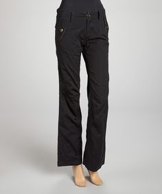 Look at this Black Flare Pants on #zulily today!