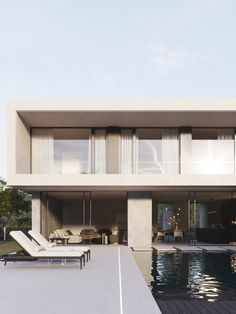 modern house Garage Doors, Mansions, House Styles, Outdoor Decor, Modern, Furniture, Home Decor, Trendy Tree, Decoration Home