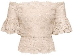 H&M  2014 SS Conscious Exclusive Collection Beige Lace Top