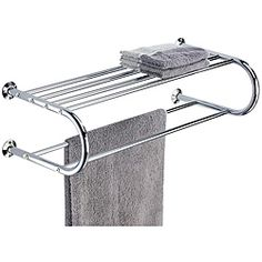 Wall Mounting Shelf with Towel Rack | Overstock.com Shopping - Great Deals on Organize It All Bathroom Shelving