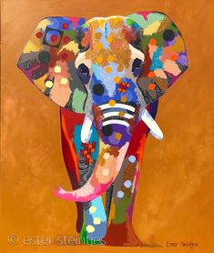Construction Paper Art, Animal Paintings, Indian Paintings, Abstract Paintings, Art Paintings, Giraffe Painting, Learn Art, Elephant Art, Painting & Drawing
