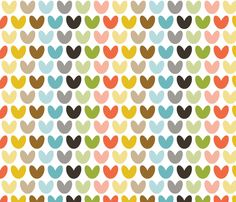 hearts_multi fabric by bunnypumpkin on Spoonflower - custom fabric/ Colorful! Pattern Dots, Doodle Pattern, Pattern Texture, Surface Pattern, Pattern Paper, Surface Design, Pattern Design, Craft Patterns, Textile Patterns