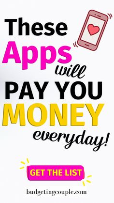 Money Discover These Apps Will Pay You Money Every Day! Easily start making money with our list of the best (highest earning/minimal effort) apps that pay you money in Best Money Making Apps, Ways To Earn Money, Earn Money From Home, Make Money Fast, Win Money, Earn Free Money, Make Money Today, Money Tips, Get Money Online