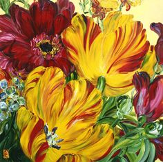 Artist Spotlight - Vibrant Color From Bobbie Burgers #paintings