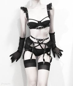 Tutu Garter Belt ( Black ) - Thumbnail 4