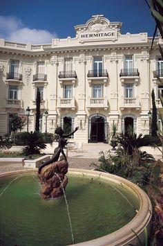 Stay at the Hôtel Hermitage Monte-Carlo in Monaco, a hotel located in the heart of Monaco, right next to the Meditarranean sea. Monte Carlo Monaco, Croatia Travel, Thailand Travel, Bangkok Thailand, Italy Travel, Hermitage Monaco, Hotels And Resorts, Best Hotels, Le Riad