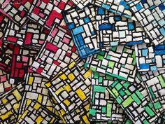 Piet Mondrian lignes verticales et horizontales graphisme grande section maternelle